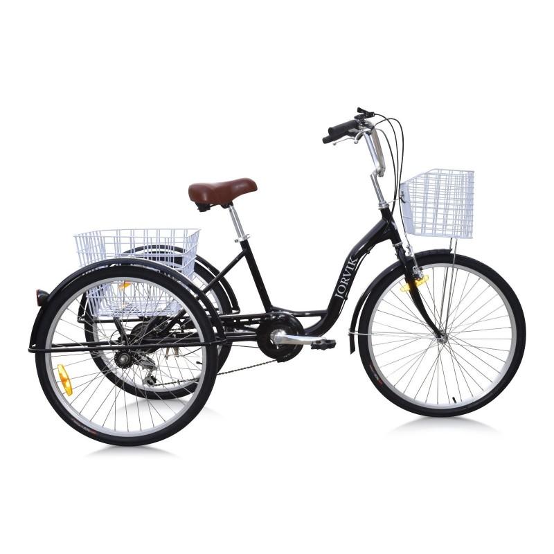 Bicicletta tre ruote per adulti, anziani, dolcenti
