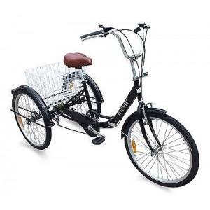 Bicicletta Elettrica tre ruote in alluminio ultra leggera 6 velocità